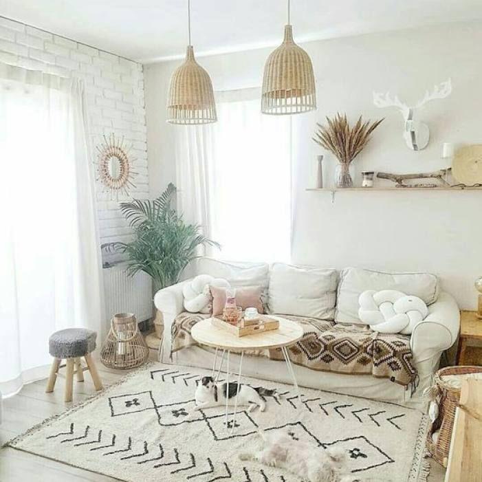 Room Redo Modern Bohemian Neutral Living Room Living Room Decor Apartment Living Room White Trendy Living Rooms #neutral #boho #living #room