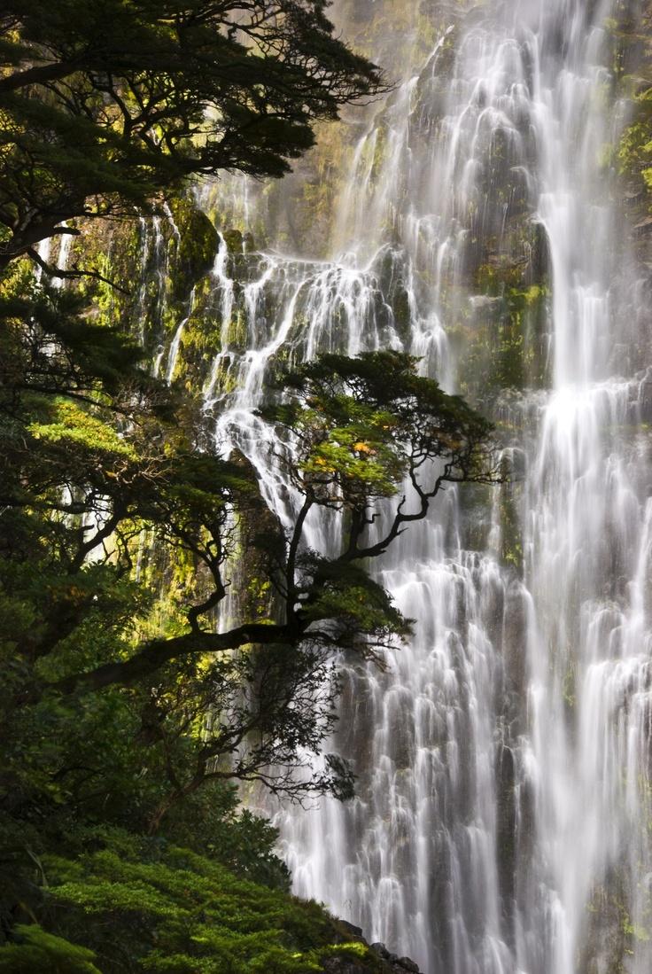 Devil's Punchbowl Falls, New Zealand.