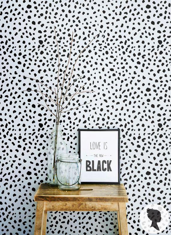 Dalmatian Pattern Wallpaper Trendy Animal Print