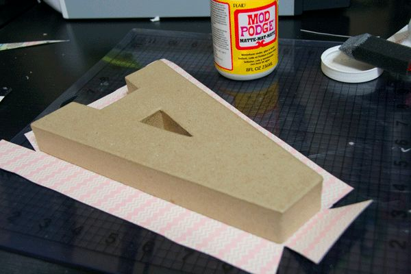 How to cover paper mache letters