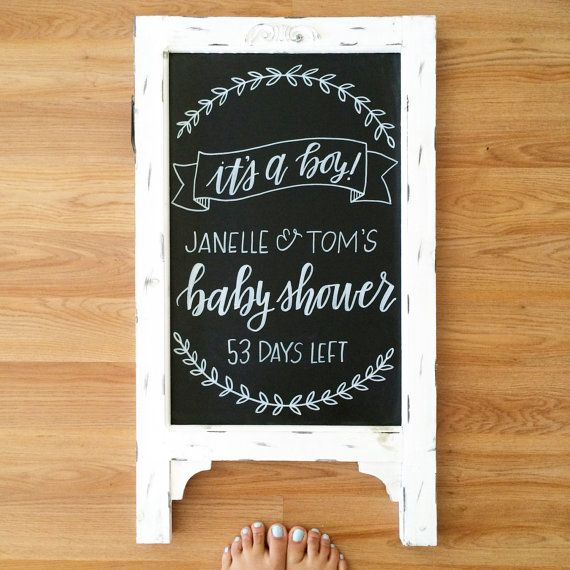 Baby Shower Chalkboard / Baby shower sign / by SugarAndChicShop