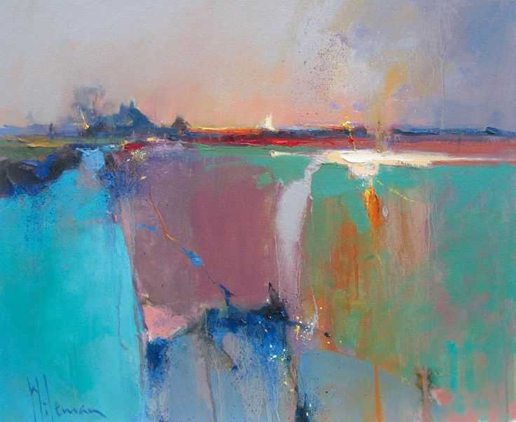 Sunset, Cley by the fabulous @PeterWilemanart from #Norfolk