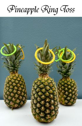 Pineapple Ring Toss   Summer Party Luau Game