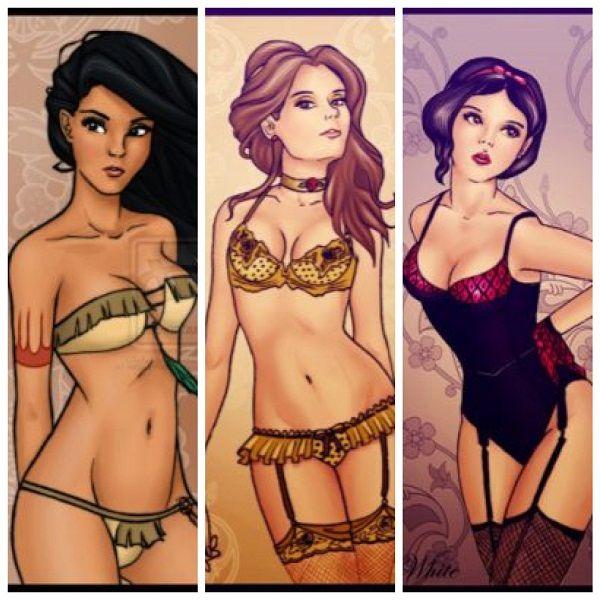 Οι πριγκίπισσες της Disney... με εσώρουχα!           -            Η ΔΙΑΔΡΟΜΗ ®