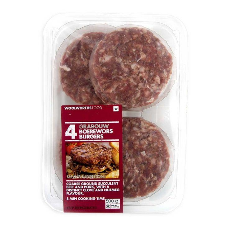 Grabouw Boerewors Burgers 500g