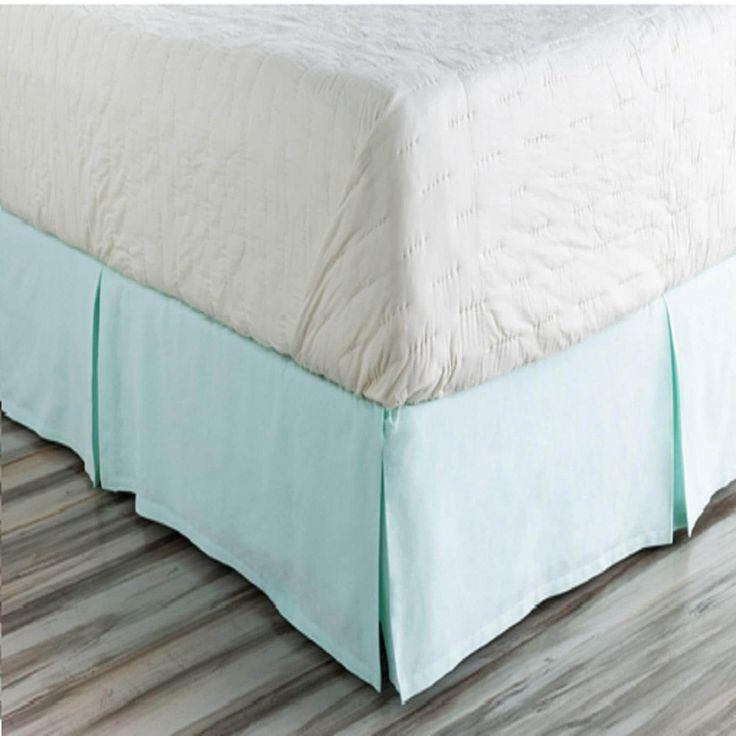 Fountain Spout Blue California Damask Opulent California King Bed Skirt