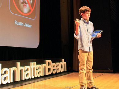 """Most 12-year-olds love playing videogames -- Thomas Suarez taught himself how to create them. After developing iPhone apps like """"Bustin Jeiber,"""" a whack-a-mole game, he is now using his skills to help other kids become developers. Another amazing young scientist for motivation. Aligns perfectly to technology and engineering standards."""