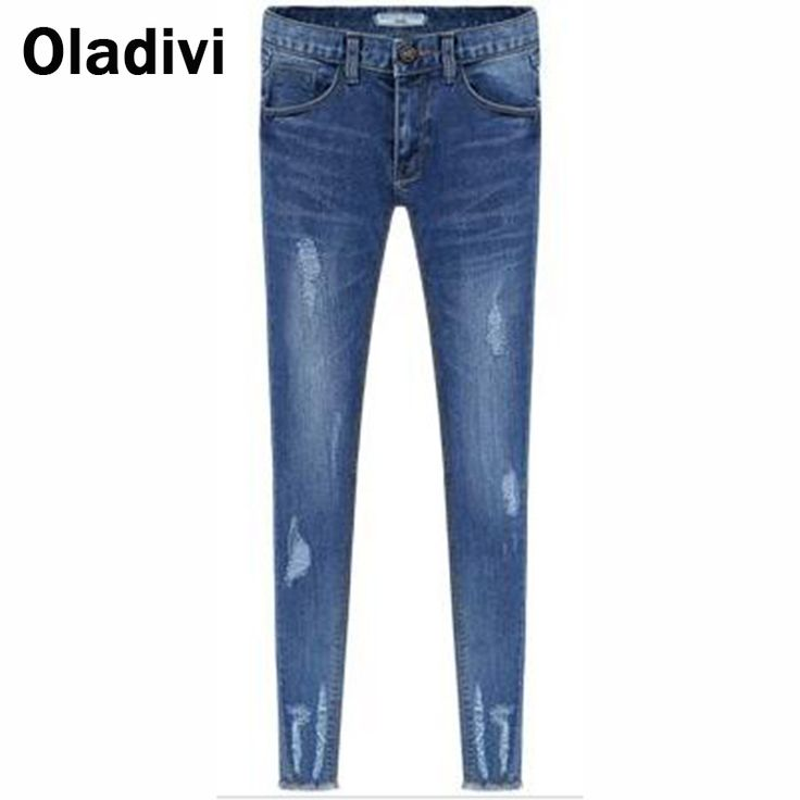 Find More Jeans Information about Free Shipping European Style New 2015 Spring Autumn New Casual Female Hole Jeans Elastic Slim Denim Blue Pencil Pant Women Jeans,High Quality jeans urban,China jean motorcycle Suppliers, Cheap jean jacket for men sleeveless from Oladivi Group - Minabell Fashion Store on Aliexpress.com