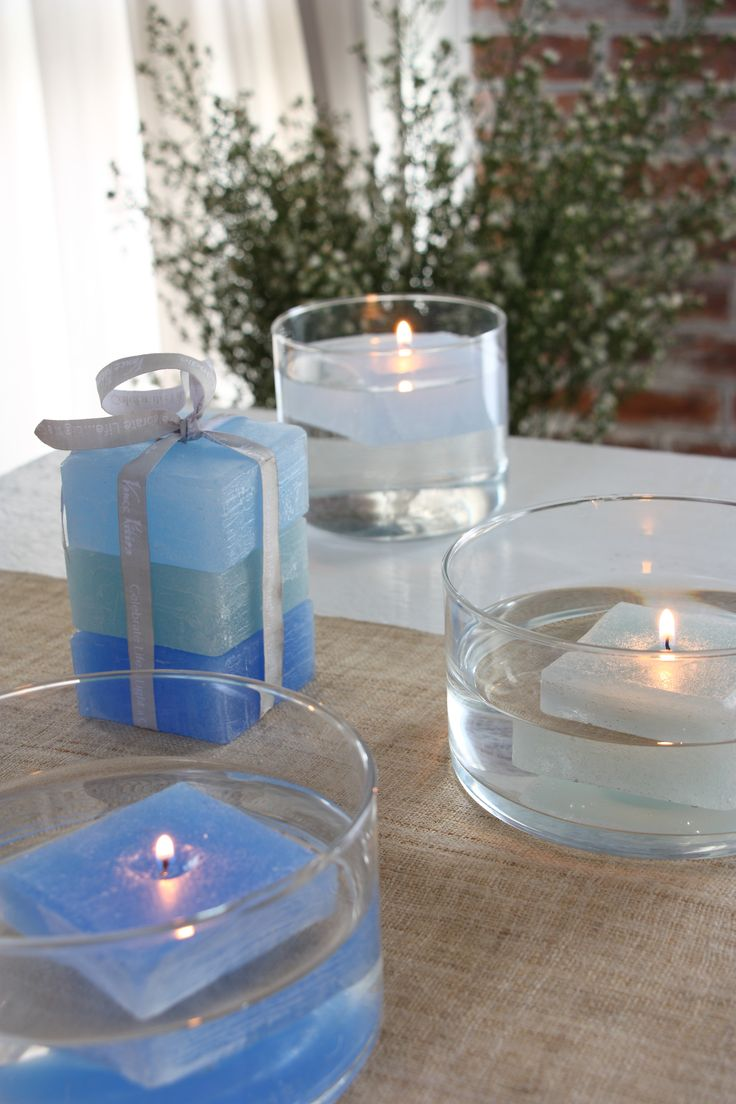 Floating Trio-Floating Votives are a fun way to decorate. Place them in a bowl of water, in a pond or swimming pool to create a charming atmosphere. Now in Beach and Ocean sets! www.vancekitira.com