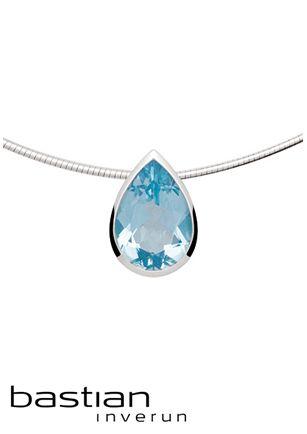 bastian inverun sieraden   Juwelier de Bokx Wijffels  €289 zilveren hanger met blauwe topaas 6,40ct #bastian #inverun #jdbw #topaas #blauw #sieraden