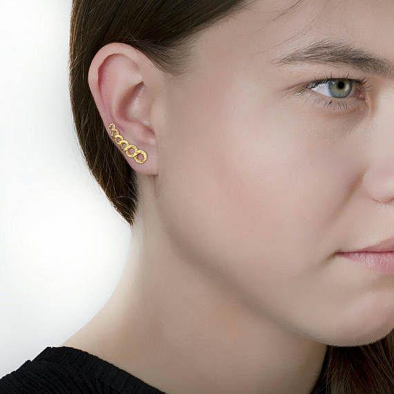 Κύκλοι Ear Ορειβάτες αυτί σφαλιάρα Earring925 Sterling