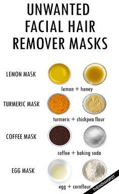 HOMEMADE FACIAL HAIR REMOVER MASKS                                                                                                                                                                                 More