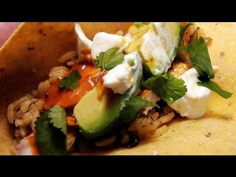 Chipotle Glazed Roast Chicken Tacos with Pumpkin Rice | South of the ...