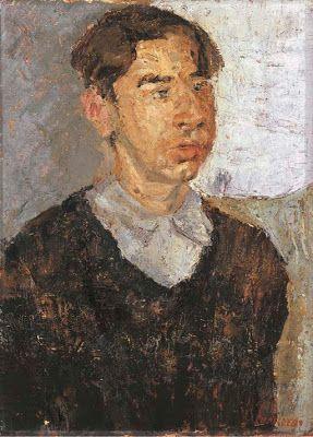 """""""Portrait of Picci"""" by Fausto Pirandello (1899 – 1975)"""