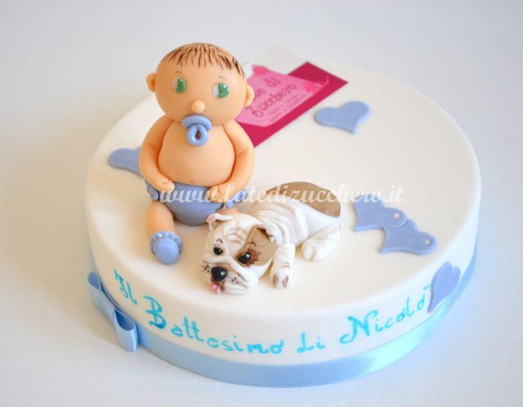 Sugar Kit per il Battesimo con il Bulldog | | Fate di Zucchero - Cake Designers