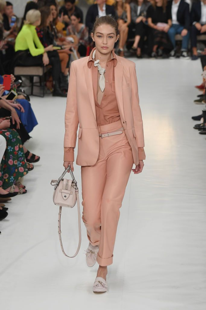 0410994f52f Model Gigi Hadid walks the runway at the Tod s show during Milan...