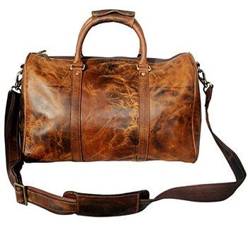 genuine leather travel duffel bag for mens - Mens Leather Duffle Bag