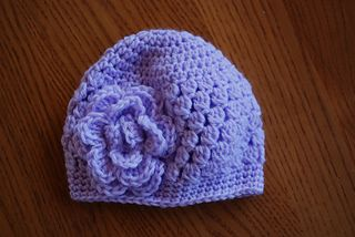 Newborn Rose Beanie ~ free pattern