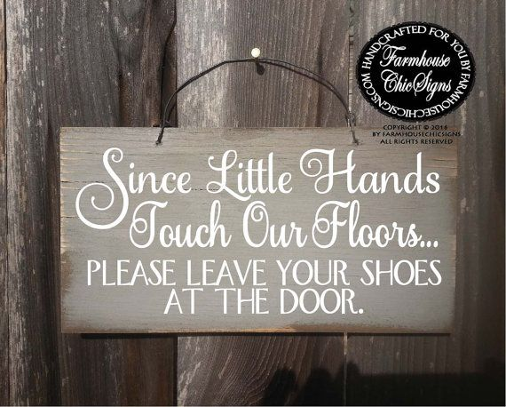 please remove your shoes sign no shoes no by FarmhouseChicSigns