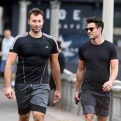EXCLUSIVE PICS: Ian Thorpe and Ryan Channing spotted on Rose Bay walk
