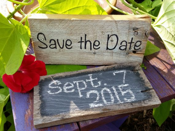 Save the Date rustic engagement sign - write in your own date! https://www.etsy.com/listing/200874187/save-the-date-rustic-signs-write-your