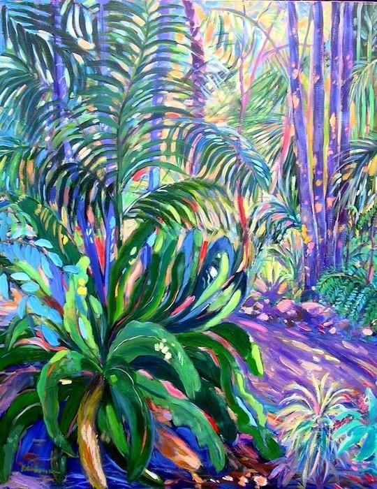 """Mt. Tamborine Botanical Gardens Walkway"" by Virginia  McGowan. Paintings for Sale. Bluethumb - Online Art Gallery"