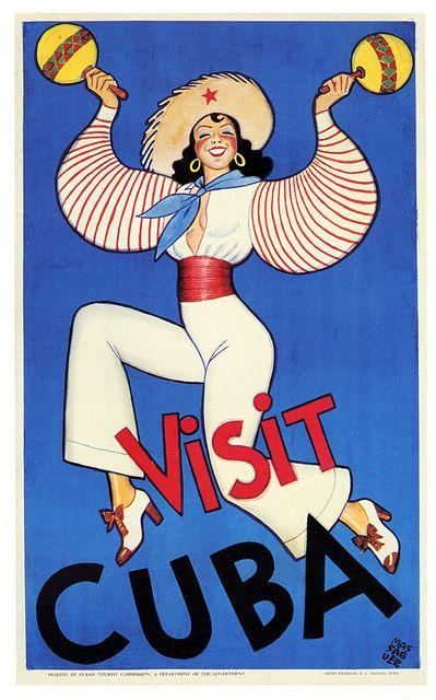 Visit Cuba! #vintage #travel #posters