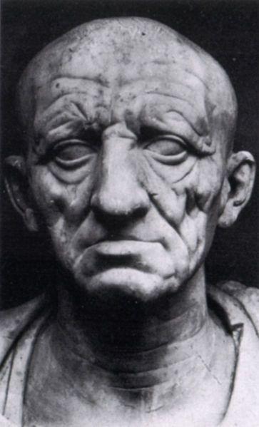 Ritratto di un patrizio romano, prima metà del I secolo a.C., marmo, altezza 35 cm, Roma, Museo Torlonia
