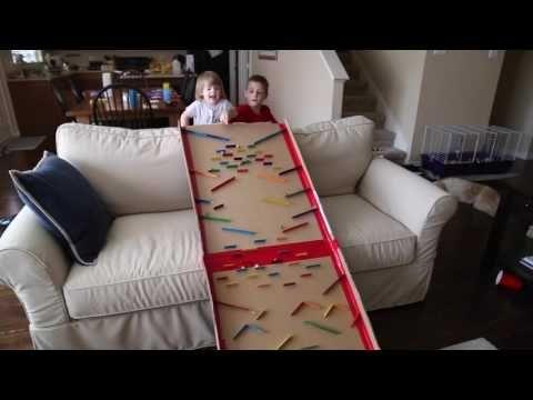 Turn a Cardboard Box into an Epic Marble Run - Frugal Fun For Boys and Girls