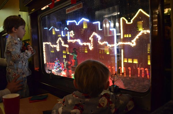 """Bells Ring True for Believers on """"The Polar Express"""" in Saratoga Springs, NY."""