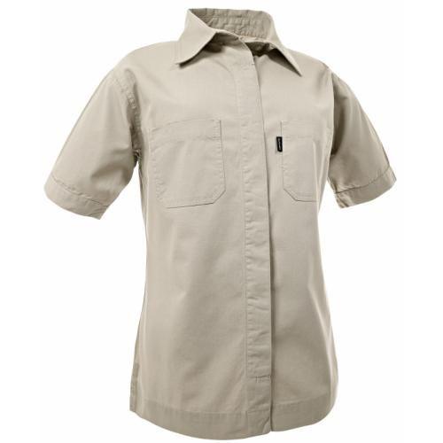 Blåkläder Dames BEIGE Canvas Overhemd Korte Mouwen   BronQo.com