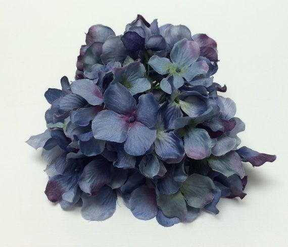 Silk Flowers  One Hydrangea Head in Shades of by BlissfulSilks