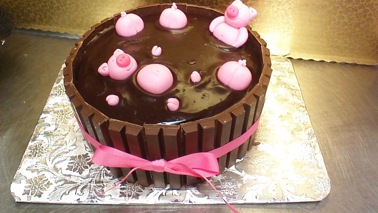 Recipe For Kit Kat Cake With Pigs