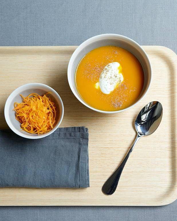 Soupe de carottes et mimolette pour 4 personnes - Recettes Elle à Table