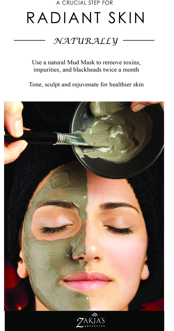 Moroccan Ghassoul Clay - 100% pure and natural.  No additives - The very best skin care. Learn more at www.zakiasmorocco.com