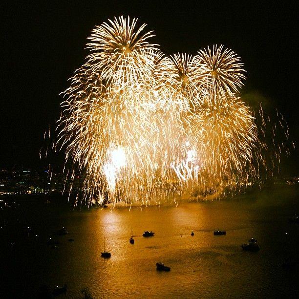 Fireworks in Wellington, New Zealand