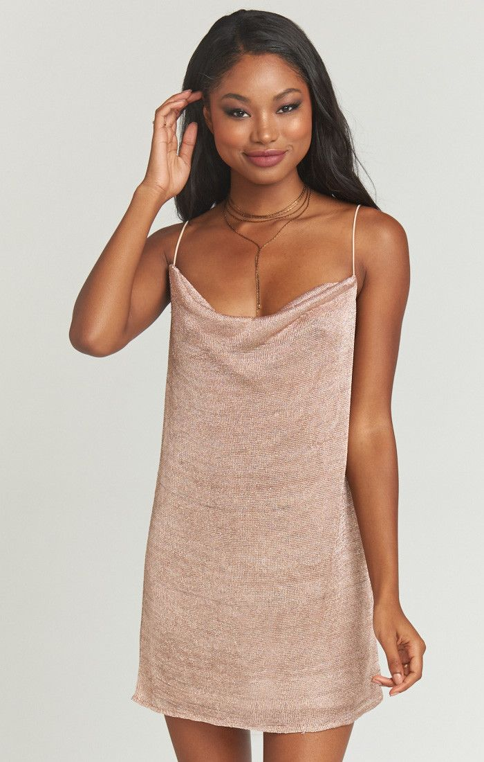6491099caf5 Kenzie Tank ~ Liquid Mesh Rose Gold