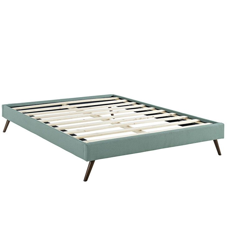 Helen King Fabric Bed Frame with Round Splayed Legs MOD-5364