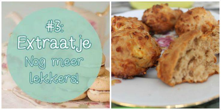Recept voor gezonde hartige scones met kaas, speltmeel, heerlijk als hapje op een feestje, bij een high tea of als gezonde snack