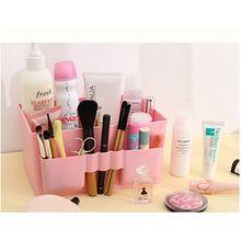 Caliente venta lindo escritorio de oficina de plástico de almacenamiento cajas de almacenaje del organizador del maquillaje #69829(China (Mainland))