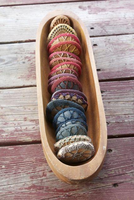crochet covered stones