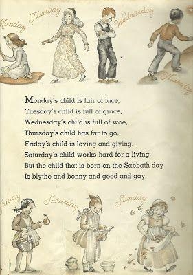 Monday's Child poem.