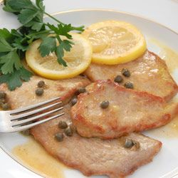 Veal Recipes | Veal Scallopini Recipes - made this with pork scallopini and it was amazing!! Took about 10 minutes, so easy. Will be a new go-to recipe.