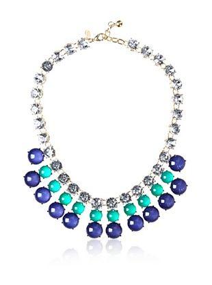 Leslie Danzis Triple-Row Cabochon Bib Necklace