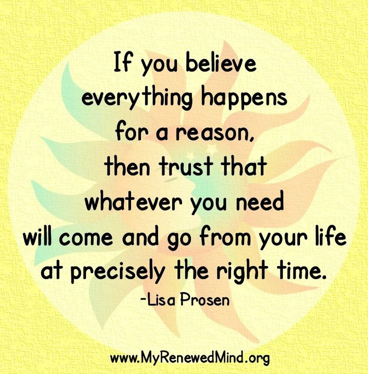 I Believe Everything Happens for a Reason Quote