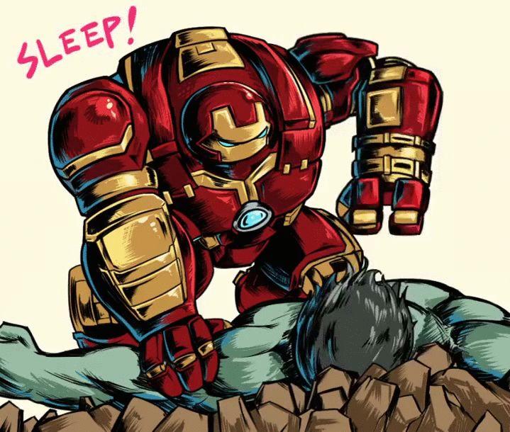 #Hulk #Fan #Art. (Iron Man Hulk Smash bro fist bump sleep sleep sleep gif) By: Adam Rifkin. (THE * 5 * STÅR * ÅWARD * OF: * AW YEAH, IT'S MAJOR ÅWESOMENESS!!!™)[THANK U 4 PINNING!!!<·><]<©>ÅÅÅ+(OB4E)