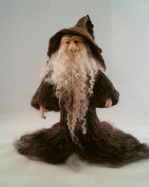 Fantasy Art Figure. Large Needle Felted Wizard by FeltbyLisa