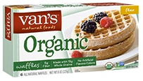 Vans Natural Foods - Organic Waffles Flax -  Whole grains? Check. 5g fiber? Check. 5g protein? Check. Sounds like youve got your morning checklist covered with Vans Organic Flax waffles. Dig in and show your taste buds some love!     �