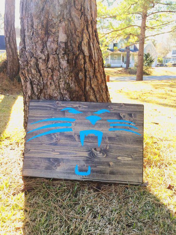 Carolina Panthers Wood Sign - Handpainted