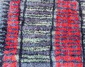 Mid Century Rug Rya Ryijy Shag Carpet Finland Suomen Kasityon Ystavat